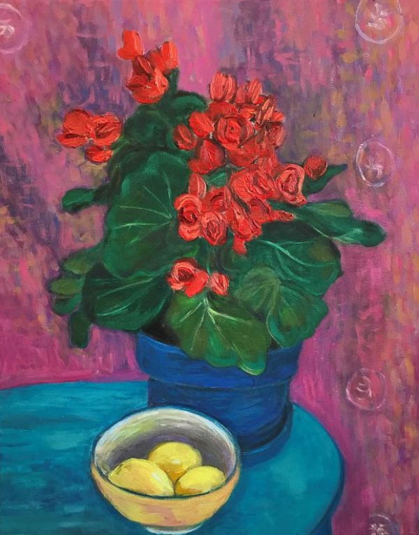Begonia and Lemons by ws mccarty