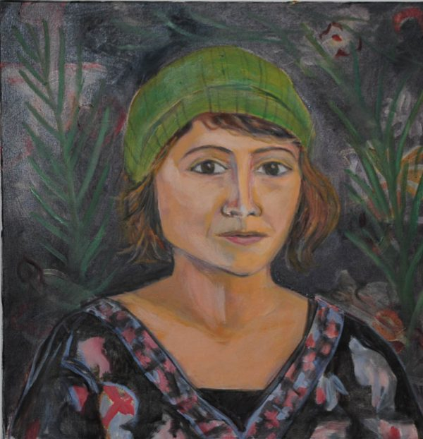 Claire in Green Hat by ws mccarty