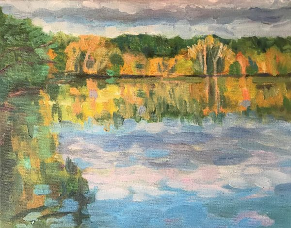 Lake Vadnais Fall Colors by ws mccarty