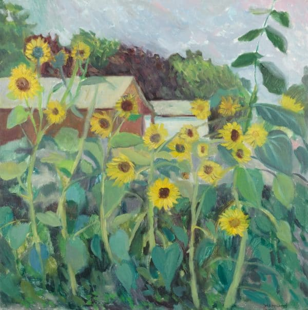 Alley Sunflowers - painting by Wendy S. McCarty