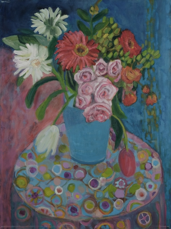 flowers - painting by Wendy S. McCarty