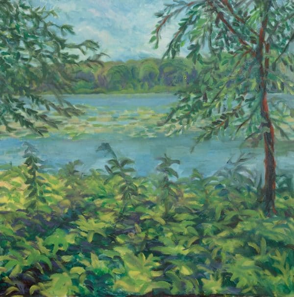 Crosby Lake, St.Paul - painting by Wendy S. McCarty