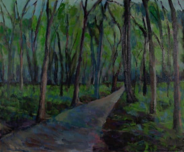 Crosby Park Path, St. Paul - painting by Wendy S. McCarty