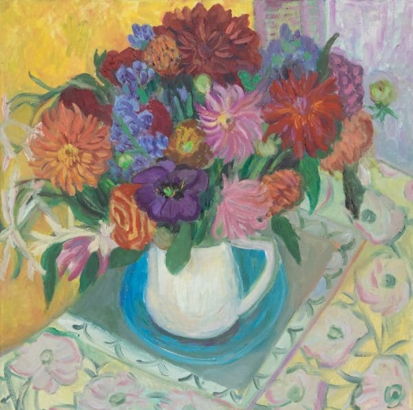 Farmers Market Flowers - painting by Wendy S. McCarty