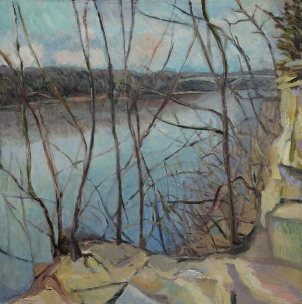 Mississippi River Early Spring - painting by Wendy S. McCarty