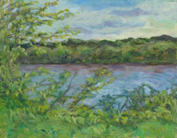 Mississippi River, (East River Road) - painting by Wendy S. McCarty