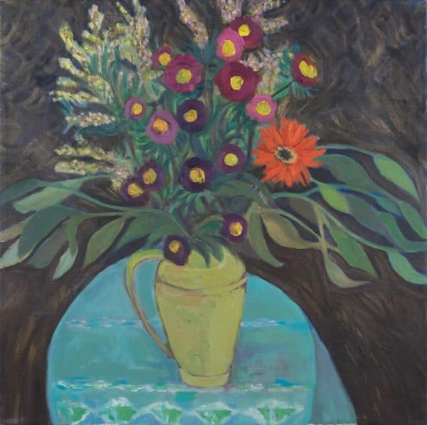 Night Asters - painting by Wendy S. McCarty