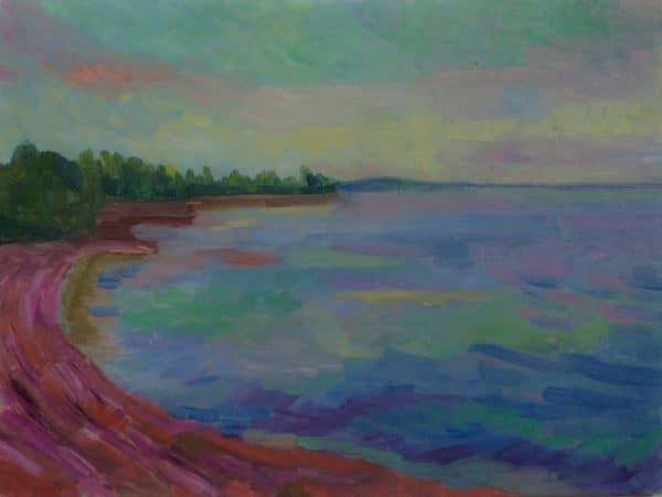 North Shore, Lake Superior (High Noon) - painting by Wendy S. McCarty