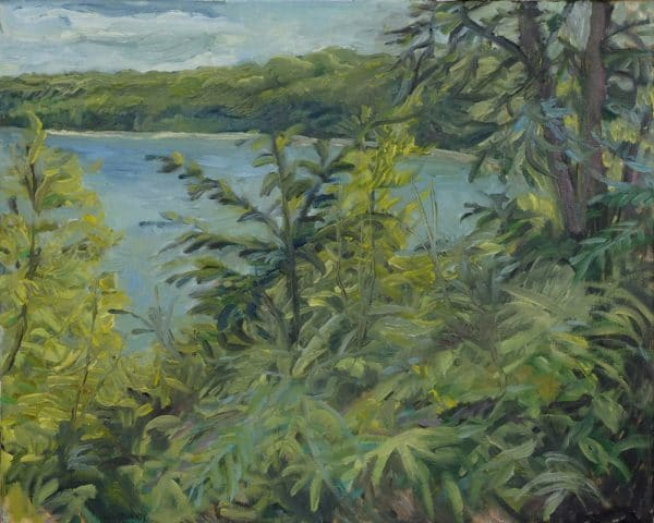 Mississippi River, St. Clair & River Blvd - painting by Wendy S. McCarty