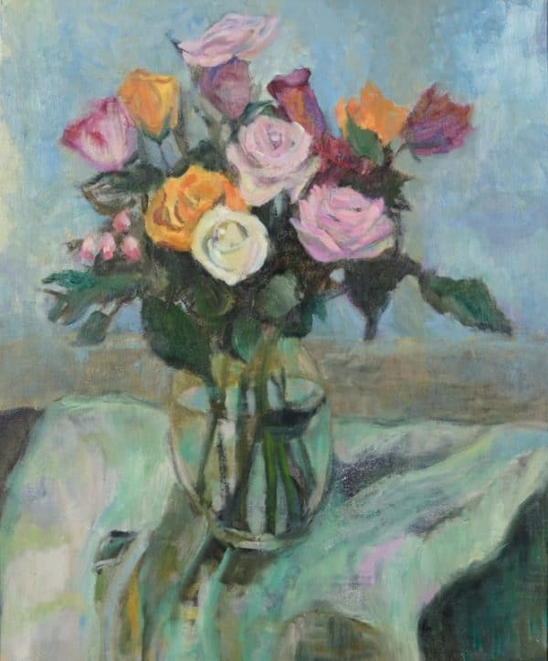 Roses after N.Y. - painting by Wendy S. McCarty