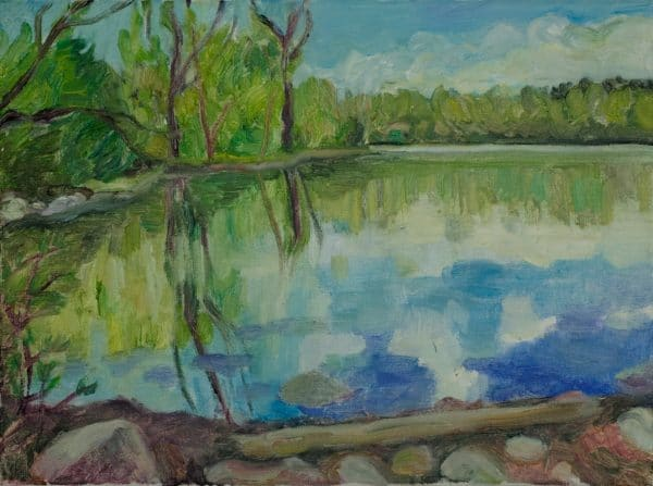 Snail Lake, Vadnais Heights - painting by Wendy S. McCarty