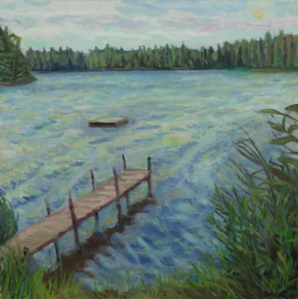 Superior National Forest, (Swimming Dock) - painting by Wendy S. McCarty